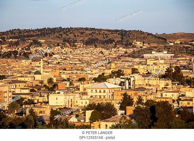 View of the city of Asmara; Asmara, Central Region, Eritrea