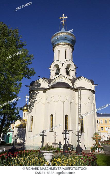 Holy Spirit Church, The Holy Trinity Saint Serguis Lavra, UNESCO World Heritage Site, Sergiev Posad, Golden Ring, Russia