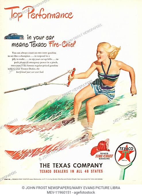 1948 U.S. Magazine Texaco Advert