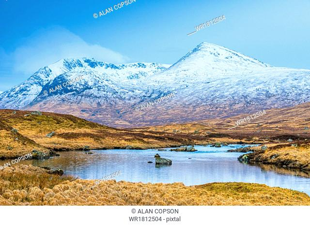 Black Mount from Rannoch Moor, Argyll and Bute, Highlands, Scotland, United Kingdom, Europe