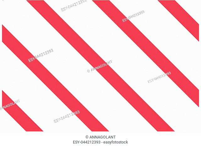 Seamless pattern. Pink-red Stripes on white background. Striped diagonal pattern For printing on fabric, paper, wrapping, scrapbooking, websites