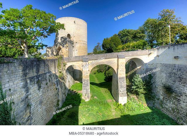 Château-Chinon, castle, park, garden, Département Nièvre, Loire, Burgundy, France, Europe