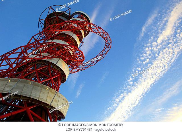 Orbital tower in the Queen Elizabeth Olympic Park in Stratford
