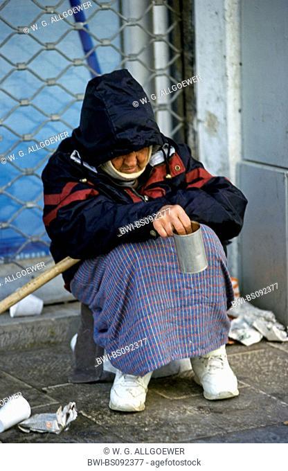 beggar, Israel, Tel Aviv