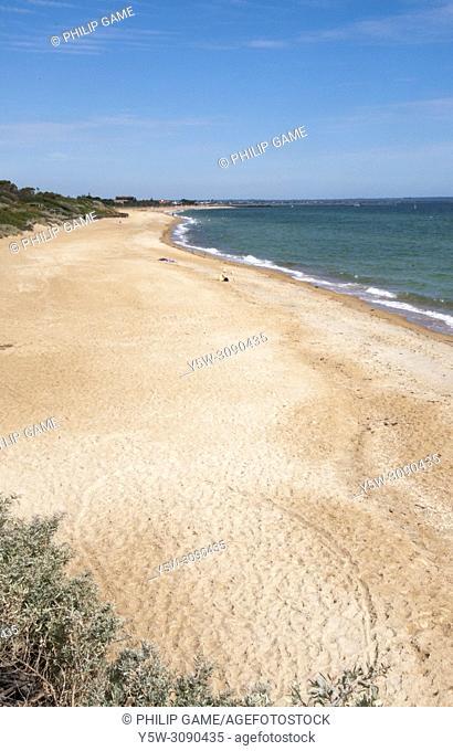 Long Beach at Aspendale on Port Phillip Bay, Melbourne, Australia