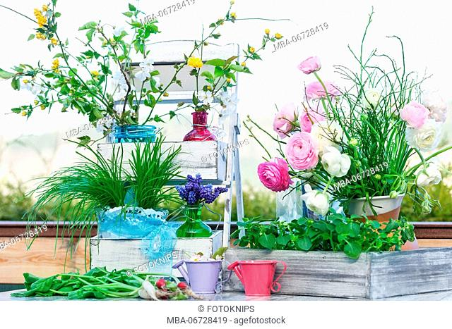 Spring on the terrace, decoration