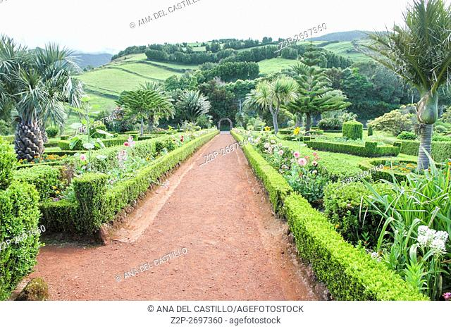 Ponta do Sossiego lookout garden Sao Miguel island Azores Portugal