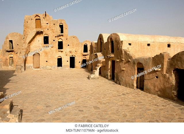 Tunisia - Ksar Ouled Soltane - Ksar used to store goods for men and animals