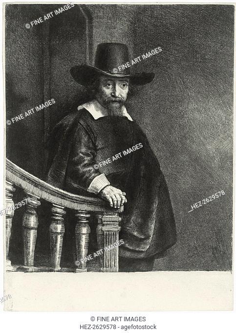 Ephraim Bueno, Jewish Physician, 1647. Artist: Rembrandt van Rhijn (1606-1669)