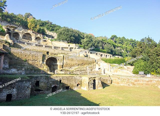 View of Archaeological Park of Baia, Bacoli, Campania, Italy, Roman civilisation, 1st century BC - 1st century
