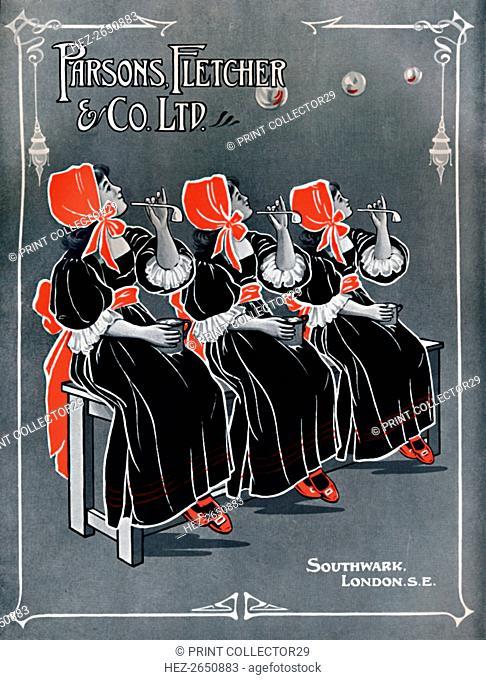 'Our Three Little Maids - Parsons, Fletcher & Co. Ltd advert', 1910. Artist: Unknown