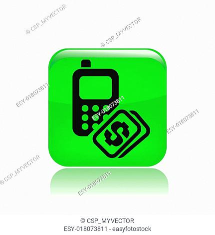 Vector illustration of single isolated phone price icon