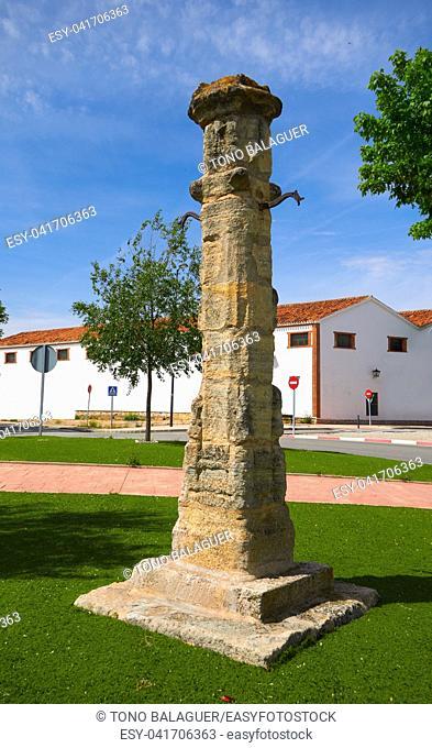 Quintanar de la Orden Rollo de Justicia by Saint James Way in Spain Toledo