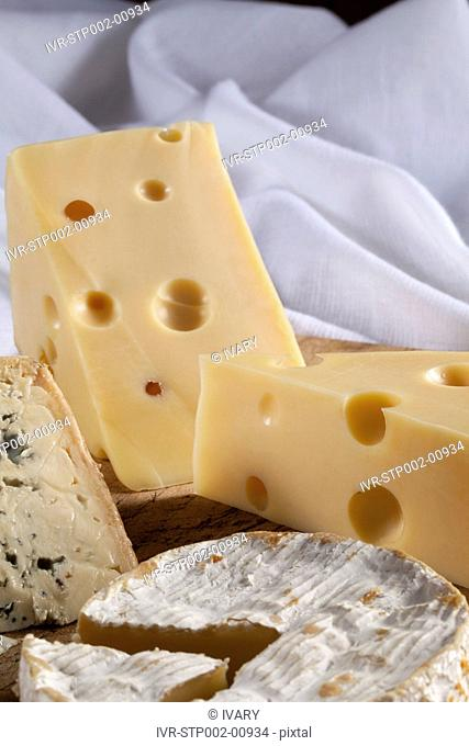 Organic Cheese On A Tray