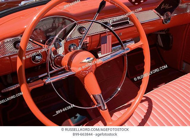 Steering Wheel Of Fifties Chevrolet Bel Air