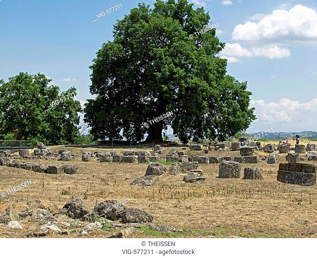 archaeological finds in Vergina site of ancient Aigai in Central Macedonia, Greece. - 06/06/2006