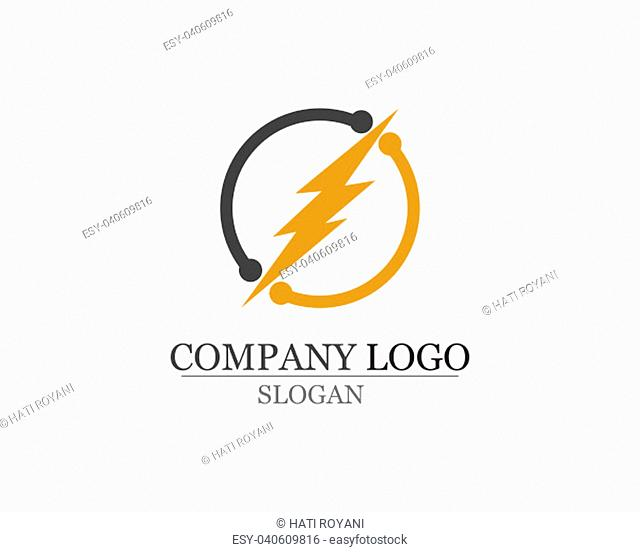 lightning icon logo and symbols vector template