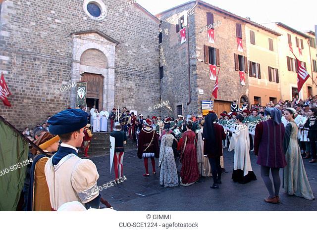 ITALY, TUSCANY, SIENA, MONTALCINO, SAGRA DEL TORDO, FOLCKLOREPHOTO GIMMI