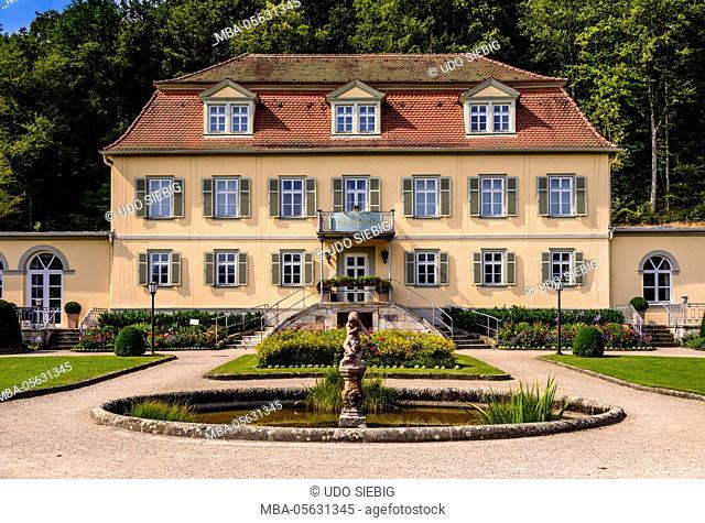 Germany, Bavaria, Lower Franconia, Rhön, Sinntal, Bad Brückenau, spa park, 'Fürstenhof', 'Schlosshotel'