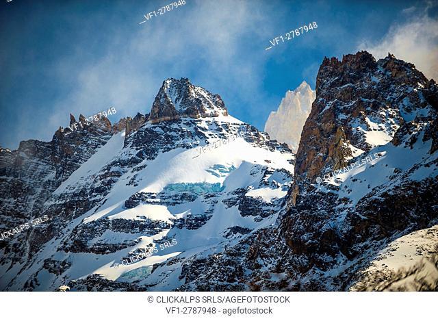 El Chalten, Los Glaciares National Park, Patagonia, Argentina, South America. Mountains landscape in the Glaciers National Park
