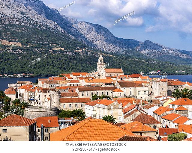 View of Korchula town in Croatia