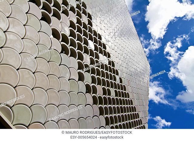 Abstract detail view of the wall structure of a modern building