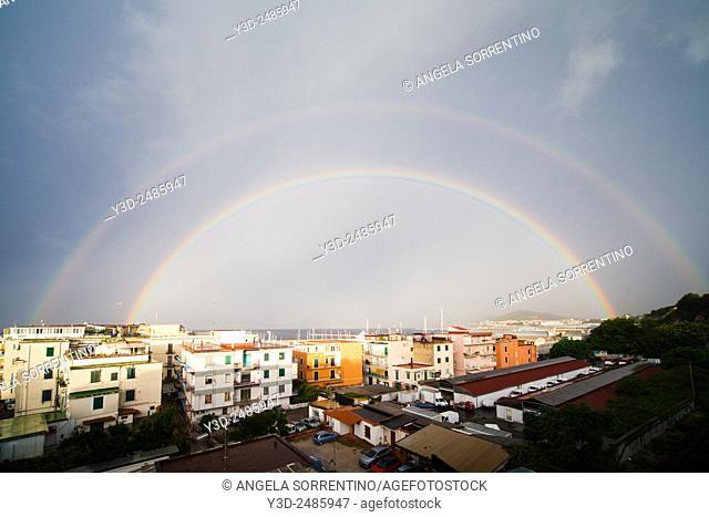 Rainbow in Pozzuoli, Italy