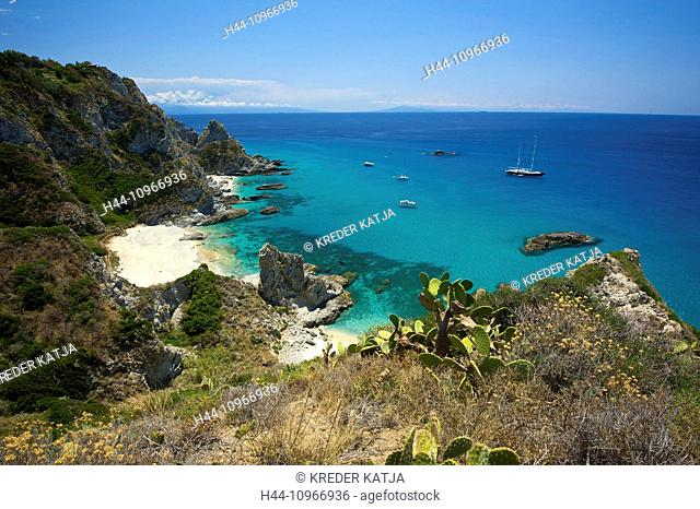 Italy, Europe, Calabria, outside, day, nobody, Capo Vaticano, Tropea, place of interest, beach, seashore, coast, sea, cliff coast, scenery, landscpae, nature