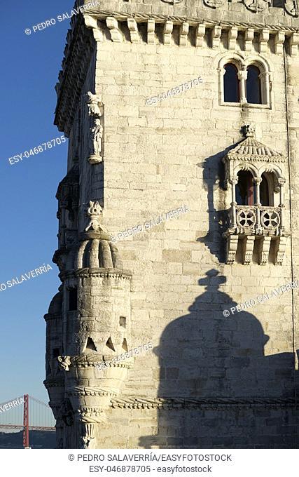 Belem Tower on Tagus river, Lisbon, Portugal