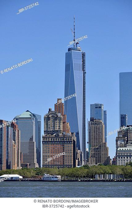 Lower Manhattan skyline with the new World Trade Center, Manhattan, New York City, New York, United States