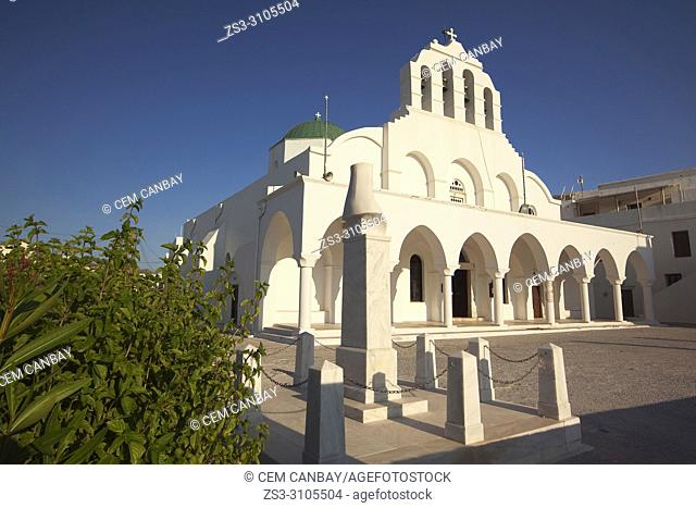 Orthodox Church in the old town Chora at the early morning light, Naxos, Cyclades Islands, Greek Islands, Greece, Europe