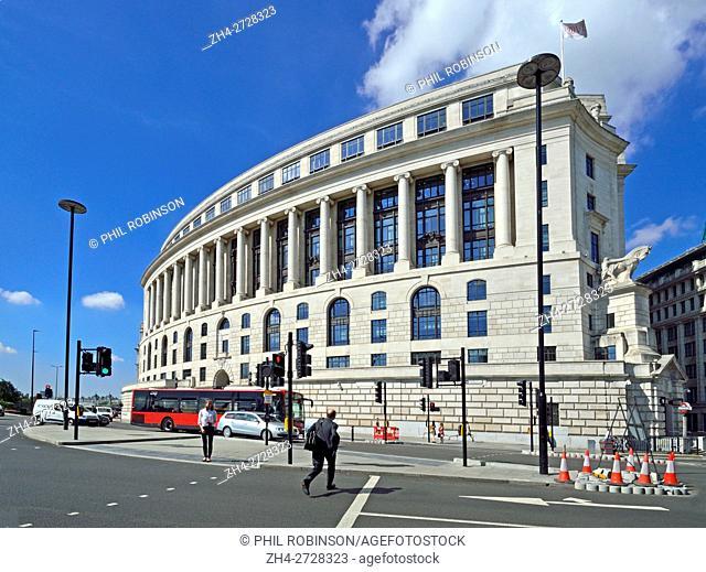 London, England, UK. Unilever House (1933: Neoclassical Art Deco) at 100, Victoria Embankment