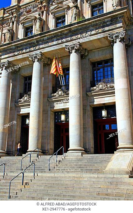 Postal and Telegraph Building, 1927, architect Josep Goday i Casals, Barcelona, Catalonia, Spain