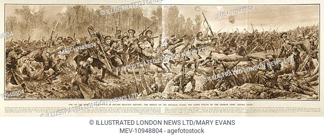 the defeat of the prussian guard near ypres belgium by the british army