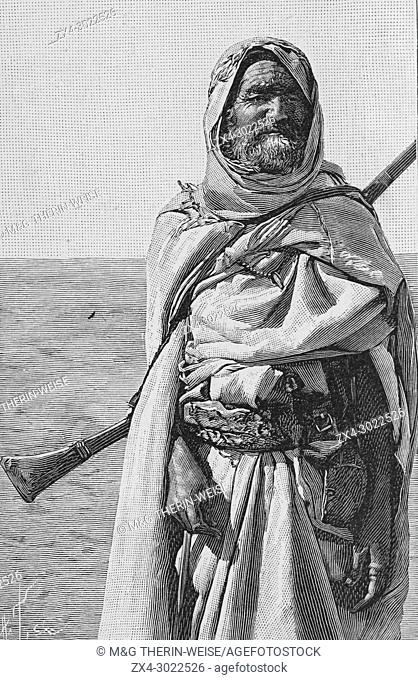 French Foureau-Lamy expedition in Chad in 1900, Targui participants, Picture from the French weekly newspaper l'Illustration, 9th September 1900