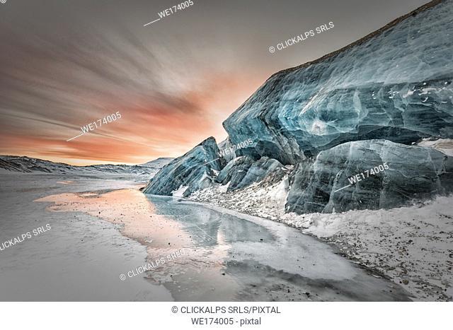 Moraine in central Spitsbergen, Svalbard, Norway