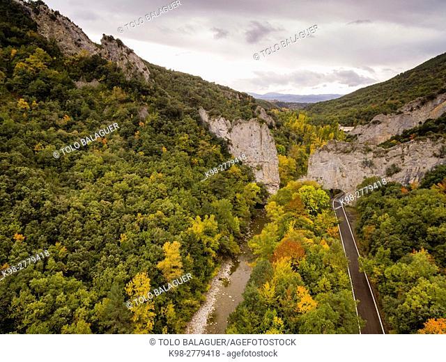 Foz de Binies, Pyrenean mountain range, Huesca province, Aragon, Spain