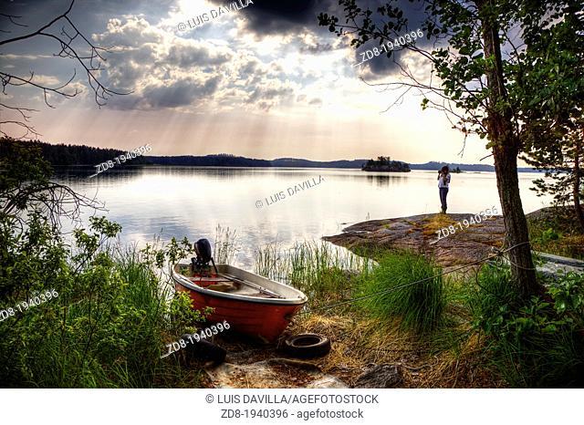 saimaa lake around punkaharju village in finland