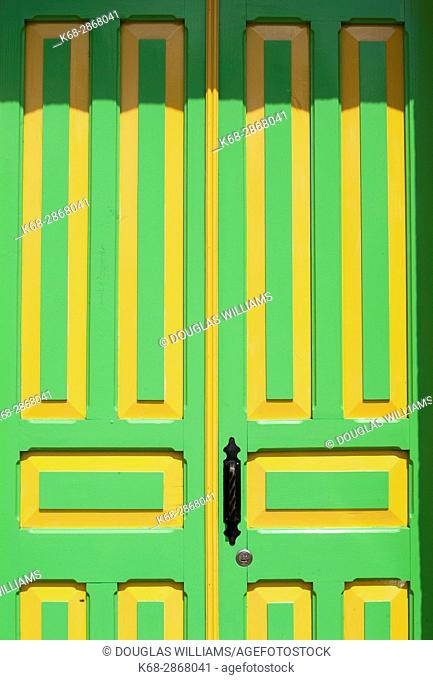 A colourful door to a home in Salento, Colombia