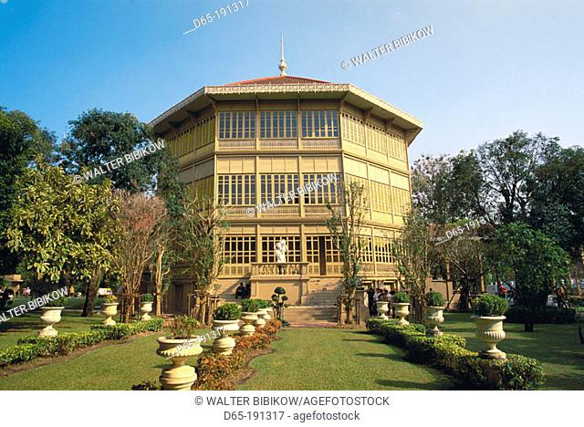Vimanmek Mansion, the world's largest teak building. Dusit Palace. Bangkok. Thailand