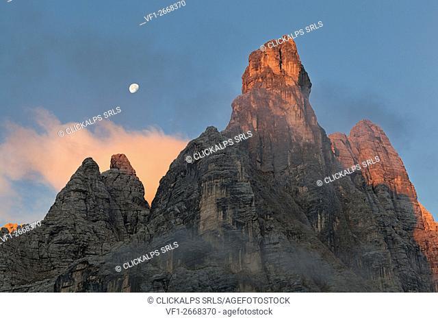 Sorapis group, Dolomites, Auronzo di Cadore, Belluno, Veneto, Italy