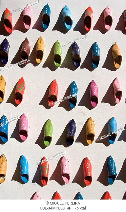 Brightly colored clog shoes