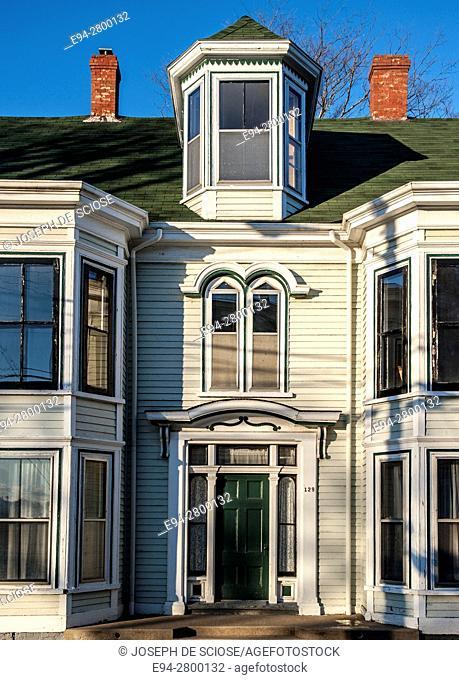 Example of home architecture in Lunenburg, Nova Scotia, Canada