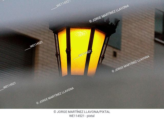 Streetlight and building