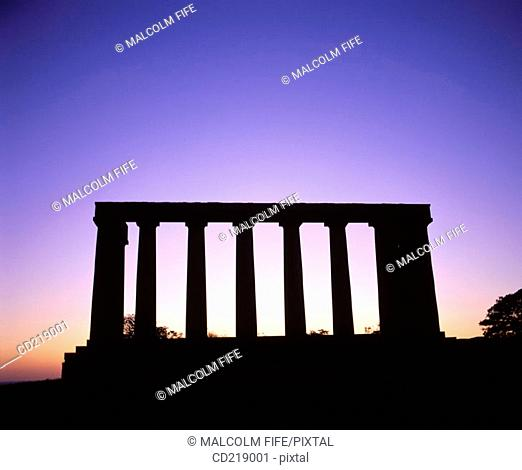National Monument, replica of the Parthenon that was designed in 1822 as a memorial to the Scots who died in the Napoleonic Wars