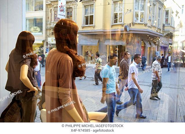 Istiklal Caddesi, Taksim district, Istanbul, Turkey