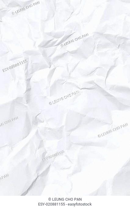 Crumbled wrinkle paper