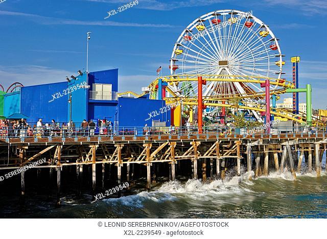 Santa Monica Pier. Los Angeles, California, USA