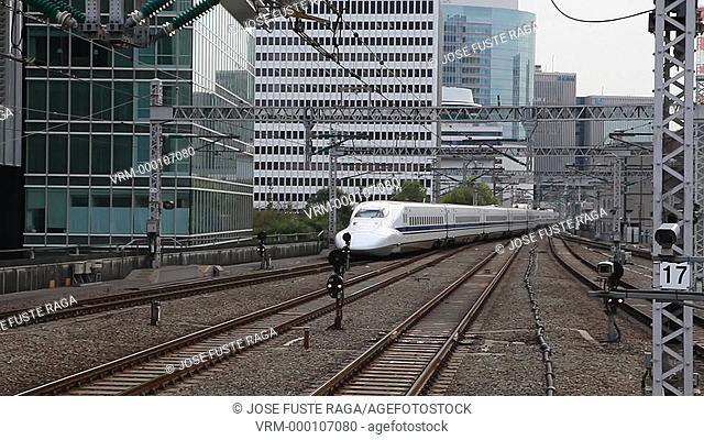 Japan-Tokyo City-The Bullet train at Tokyo Station-Marunouchi