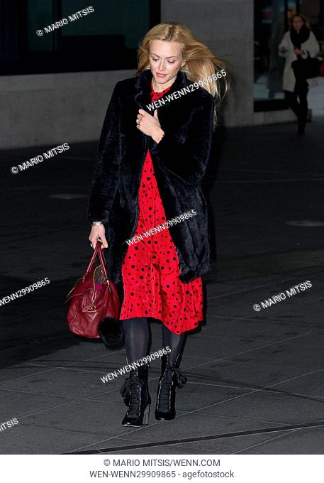 Fearne Cotton arriving at the BBC Radio 2 studios to host the Ken Bruce Show Featuring: Fearne Cotton Where: London, United Kingdom When: 25 Oct 2016 Credit:...